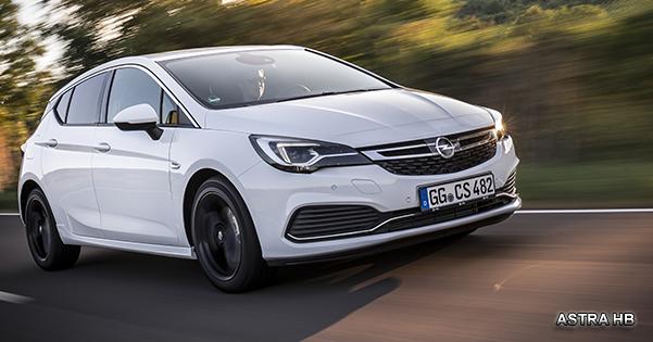 Opel Astra Hatchback'te Çarpıcı Yeni Seçenekler