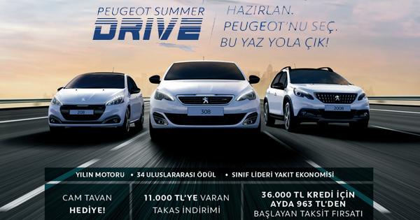 Peugeot Summer Drive :  Bu Yaz yola bir Peugeot ile Çık